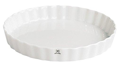 Zone Galzone Plat à tarte en céramique Blanc 25 cm