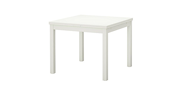 Ikea Bjursta Tavolo Allungabile In Bianco 90 129 168 X 90 Cm Amazon It Casa E Cucina