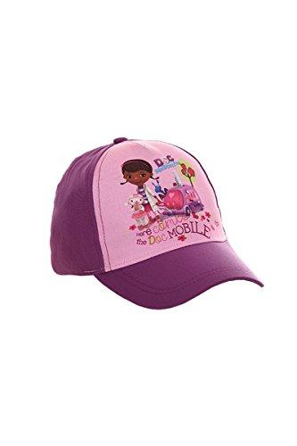 Doc McStuffins Kappe, Baseball Cap, Schirmmütze für Kinder, Mädchen, 100{63a1c4f42fc01af0056e28db2d29d32385d3aad5fc01562486d5cf62648f8c2b} Baumwolle mit Klettverschluss Verstellbar (54, Lila)