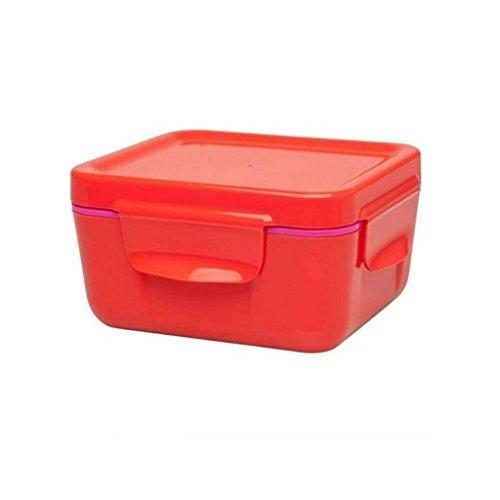 Aladdin 33390 Thilde Boîte Repas Isotherme 0,47 Litre récipients de Stockage Alimentaire en Plastique, Rouge Tomate