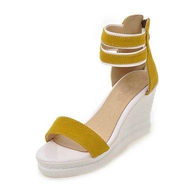 zhENfu Donna Sandali scarpe Club Comfort Novità vello materiali personalizzati outdoor Abbigliamento Sportivo fibbia nero giallo verde Beige rosa Yellow