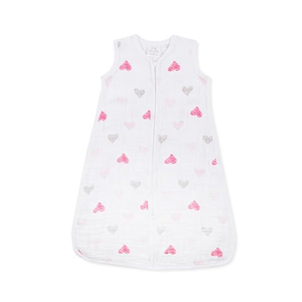 aden + anais Classic Muslin – Saco de dormir, 1tog, tamaño mediano, de 6a 12meses, diseño de agapornis