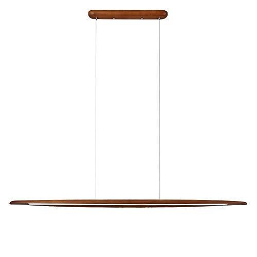 CARYS LED Pendelleuchte Dimmbar Holz Deckenleuchte Hängeleuchte Esszimmer Höhenverstellbare Hängelampe Wohnzimmer 18W 3000K-6000K Fernbedienung 130cm Leuchtmittel Küche Büro
