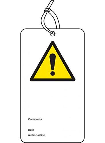Caledonia segni 55064Double Sided sicurezza tag (Confezione da 10)