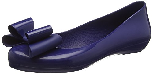 Zaxy Women Pop Bow Fem Ballet Flats, Blue (Navy), 6 UK 39 EU