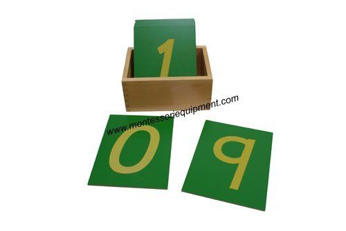 Kid Advance Co. Montessori Sandpaper Numbers w/ Box