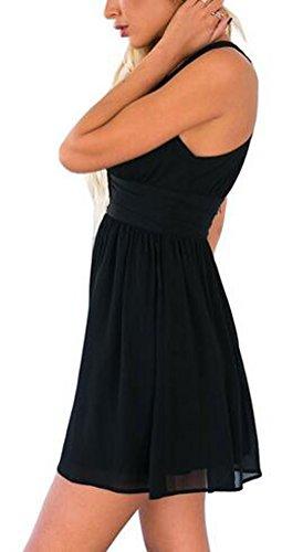 SunIfSnow - Chemise de nuit spécial grossesse - Moulante - Uni - Sans Manche - Femme Bleu