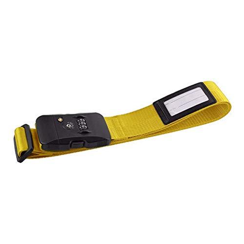 Cansenty - Correa de equipaje ajustable para maleta amarillo