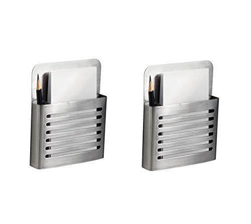 InterDesign Forma Magnetic Modern Pen and Pencil Holder, Metal Writing Utensil Storage Organizer for Kitchen, Locker, Home, or Office 2