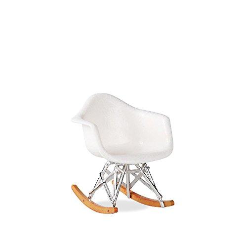 Lo+DeModa treames Chaise à Bascule en Miniature, ABS, Blanc, 11 x 10 x 0,13 cm