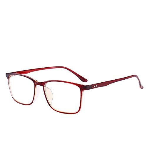 Sakuldes Anti-Blue Light Brille Anti-Strahlung Computer Brille Nicht verschreibungspflichtige Brille for Frauen Männer (Color : Red Wine)