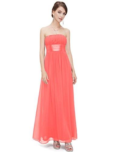 Ever Pretty HE09060CO16,16UK,Coral, Maxi Dresses for Women 09060