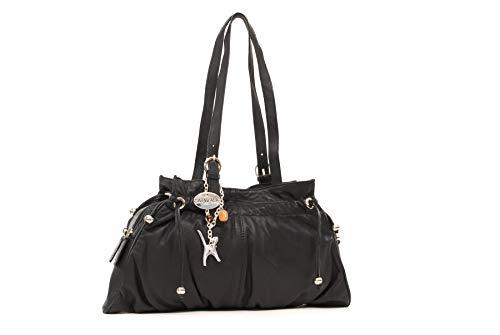 Catwalk Collection Handbags - Leder - Umhängetasche/Schultertasche - ALICE - Schwarz