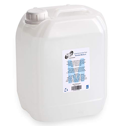 (ETEC Professional Nebelfluid 5 Liter Medium Fog Fogger Fluid Flüssigkeit Nebelmaschine Standard Indoor Outdoor)