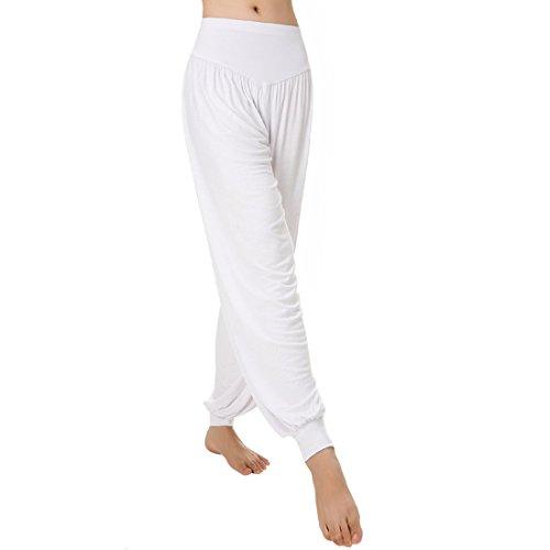 Aivtalk - Pantalones Anchos de Yoga Pantalones Harem de Deporte Danza  Jogging Gym Fitness Y Ejercicios 5d9726587ac0