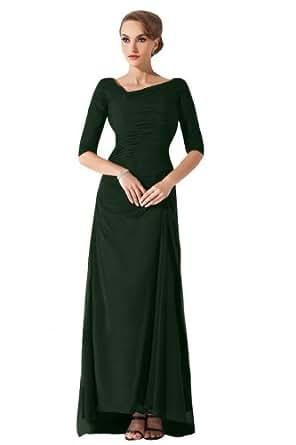 Sunvary Elegant mit Aermel Abendkleider Lang Chiffon ...