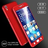Full Body Protection 360 Degree ipaky Hard Case Hybrid Front + Back Case Cover & Tempered Glass For OPPO A37 A37F - Red