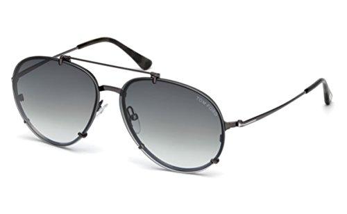 Tom Ford Unisex-Erwachsene FT0527 08B 59 Sonnenbrille, Grau (Antracite Luc/Fumo Grad),