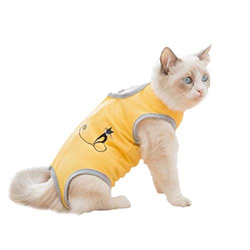 POPETPOP Tuta di Recupero per Gatto Cane Sterilizzazione Svezzamento Vestiti Anti-leccamento Body Post Operatorio per Gatto