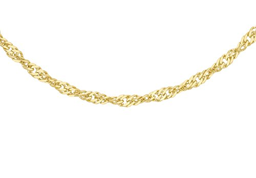 Carissima Gold Damen 9k (375) Gold 1.2mm Diamantschliff Twist Panzerkette
