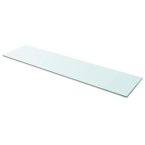 Tidyard- Regalboden Glas Transparent 100x25 cm Glasboden Einlegeboden Glasablage Glasregal Ersatzteile
