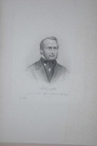 Portrait. Brustfigur nach viertelrechts. Radierung von Paul Barfus, Unterrand mit Beschriftung.