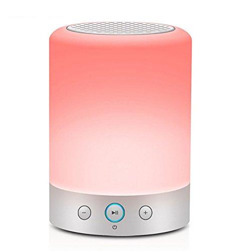 Myoyo Bluetooth Lautsprecher Portable Bass Cannon Wireless Bunte Schlafzimmer Schreibtischlampe LED Verfärbung