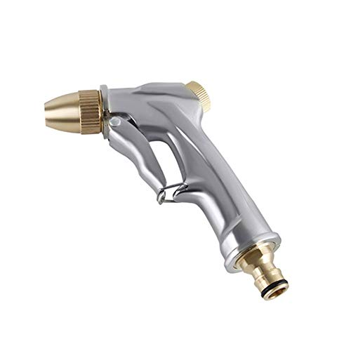 Yollhy Garten-Spritzpistolen - 100% Metal - Verstellbarer Wasserdurchfluss - Robust und Leistungsstark für Autowaschanlagen, Garten Bewässerung Mist Rim