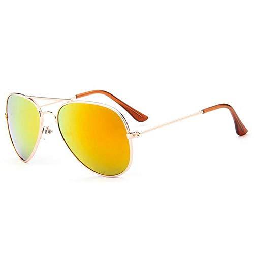CCGKWW Quecksilber Beschichtung Kinder Sonnenbrille Dual Beam Kinder Baby Jungen Mädchen Uv400 Schutz Sonnenbrille Personas Goggle Sonnenbrille
