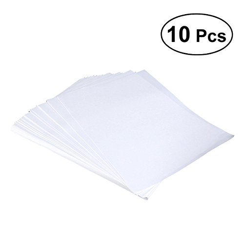 UKCOCO 10 stücke Wärmeübertragung Druckpapier Für T-shirts (Weiß) -