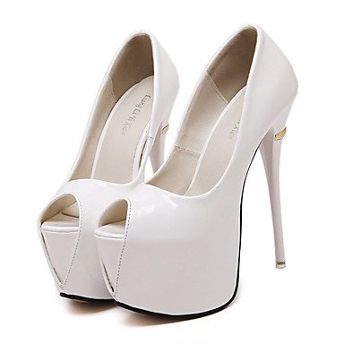 Zormey Frauen Schuhe Leder Stiletto Heel Peep Toeheels Party & Amp Abend-/Kleid Schwarz/Rot/Wei? US6.5-7 / EU37 / UK4.5-5 / CN37