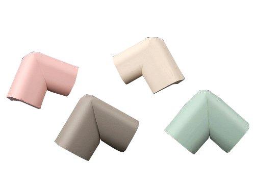 Tinxi Schaumstoff Tisch Kantenschutz Eckenschutz für Baby 10er Pack verschiedene unsortierte Farben thumbnail