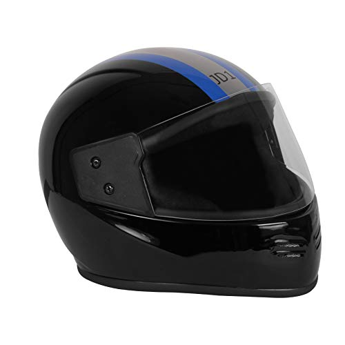 JMD Helmets JD 1 Decor Stripe (Black, Blue and Silver, L)