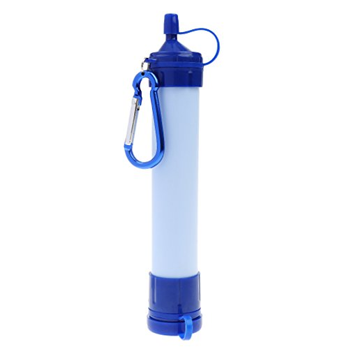 Portátil De Filtro De Agua Purificador De Acampar Al Aire Libre Equipo De Supervivencia Azul Blanco