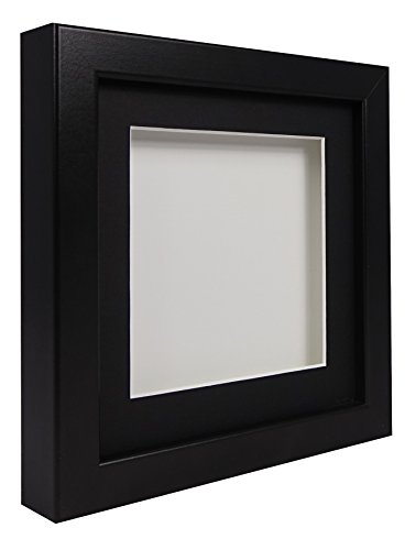 hadow Display Bilderrahmen 30x 30cm-Rahmen schwarz, schwarzes Passepartout, Weiß Rückwand ()