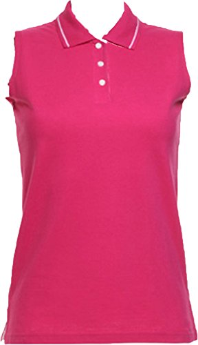Gamegear Lady Proactive Sleeveless Shaped Side Seams Slanted Placket Polo Shirts
