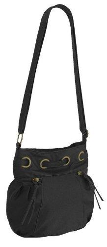 EyeCatch - Vena Damen Schultertasche aus Kunstleder schwarz