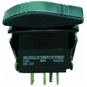 Seachoice Rocker 50–12841Deko-Contura Switch On/Off/On, schwarz, 6Klemmen (Kippschalter Seachoice)