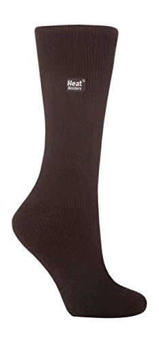 Heat Holders - Epaisse hiver chaude thermiques chaussettes femme fantaisie en 10 couleurs, taille 37-42 eur (Black)