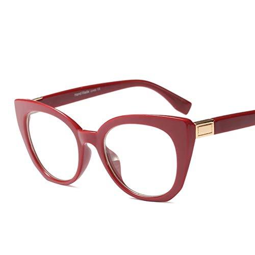 LIUYAWEI Mode Frauen Cat Eye Brillengestell Transparente Brillengestell Print Frame Frauen Brillen Frames Brillengestell Klare Gläser