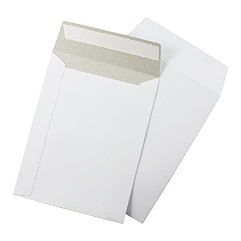 EcoSwift 6 x 8 CD/DVD Photo Mailers Stay Flats White Cardboard Self Seal Envelopes 6x8 by EcoSwift