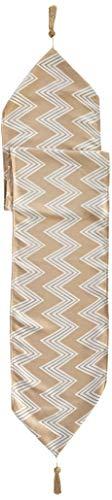 Violet Linen Indiana Chenille Chevron Design Tischläufer, Polyester, gold