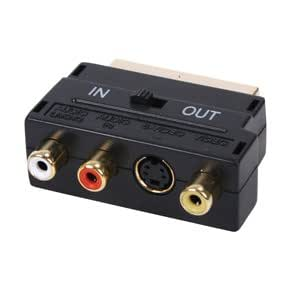 Scart Adapter - Premium Quality / 24k Gold Plated / SVHS (4-Pin) / S-Video / TV-Out / / RCA / Scart / 21-pin (Fully Wired) / Switched (In/Out)