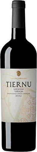 6 x 0.75 l - Tiernu, vino rosso sardo a base Bovale, Campidano di Terralba Doc, prodotto dalla Cantina di Mogoro, Sardegna