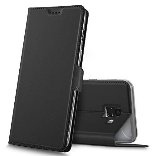 GeeMai Samsung Galaxy J6 2018 Hülle, Premium Samsung Galaxy J6 2018 Leder Hülle Flip Case Tasche Hüllen mit Magnetverschluss Standfunktion Schutzhülle handyhüllen für Samsung Galaxy J6 2018