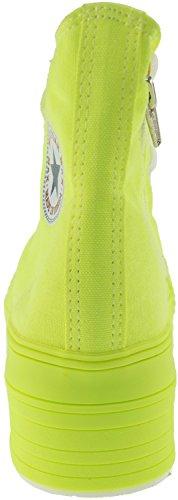 Moda Maxstar Verde All Top Plataforma C50 7 Reissverschluss neon fach Alta Mit 4f04Zrng