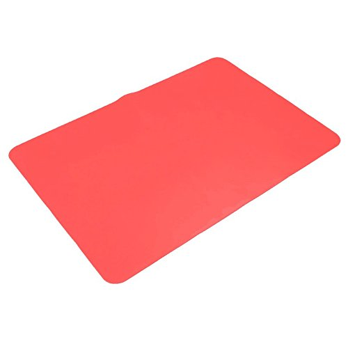 Stillshine Silikon Backmatte / Backunterlage Rutschfest / Silikonmatte / Baby Platzdeckchen, 40 x 30 cm, in Pastell Farbe Fakultativ (Rot)