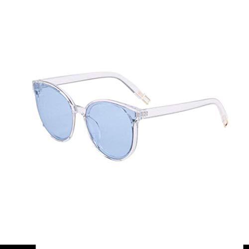 KISlink Retro polarisierte runde Sonnenbrille - Frauen Vintage Cat Eye Sonnenbrille UV400 Schutz H1308 (Farbe: Transparent/Blau)