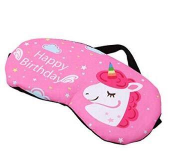 Boheng Unicornio Lindo diseño Antifaz Dormir máscaras para niños Adultos Fiesta Viajes