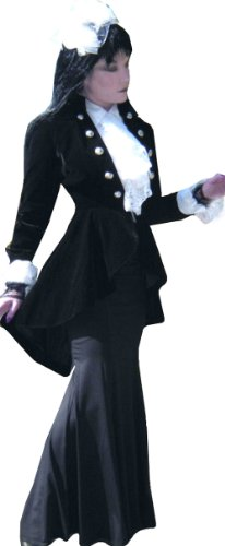 Noire (Interview w/a Vampire Jacket) Elegante Style Gothique/Victorienne. Taille 46 Noir